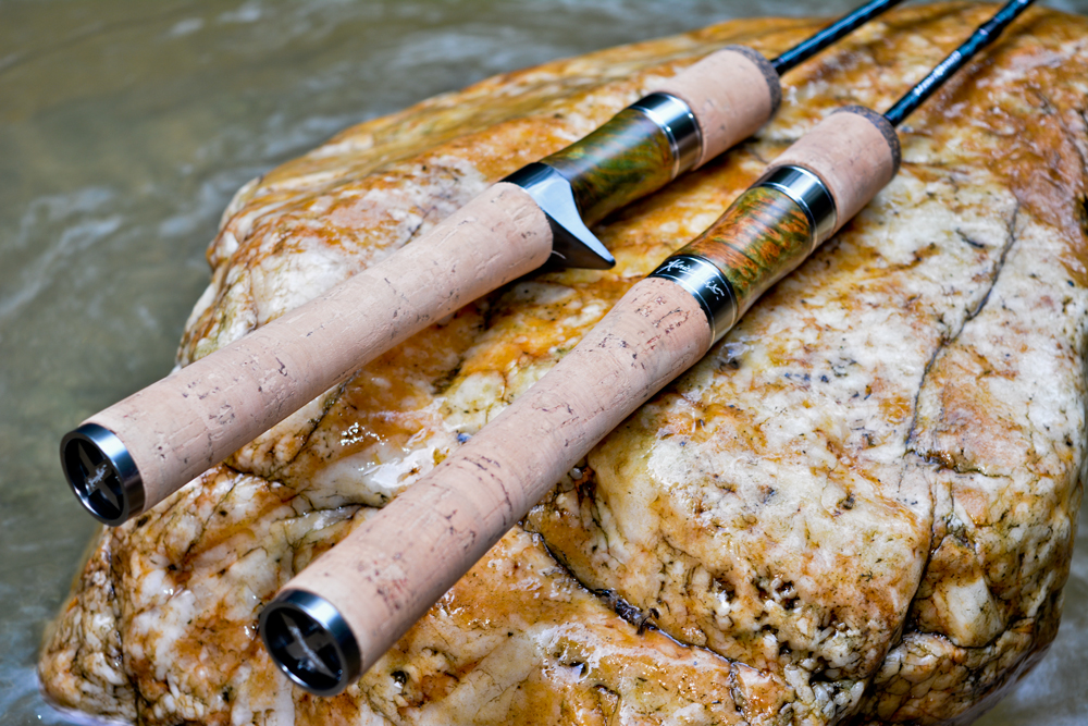 kanicen-nix-kaki-bako-ultralight-rod-custom-spinning-bait-casting-reel-seat-birdseye-mapple-burl-stabwood